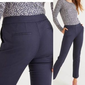 Boden Navy Cropped Ankle Stretch Chinos Pants